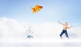Dzieciaka rybak Obrazy Stock