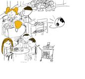 dzieciaka rysunkowy wektor Zdjęcie Stock