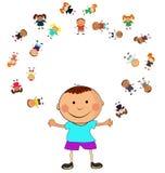dzieciaka szczęśliwy wektor Zdjęcia Royalty Free