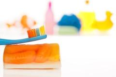 dzieciaka szczotkarski ząb s Fotografia Royalty Free