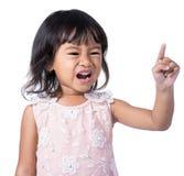 Dzieciaka wyrażenie odizolowywający nad bielem obrazy stock
