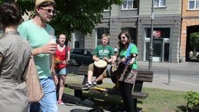 Dzieciaka zespołu gitary bęben zdjęcie wideo