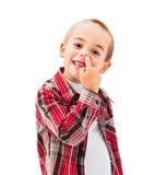 Dzieciaka zrywania nos Zdjęcia Royalty Free