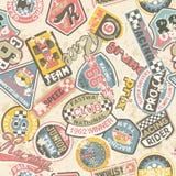 Dzieciaki ściga się odznaka patchwork ilustracji