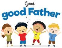 Dzieciaki śpiewa pochwałę ilustracja wektor