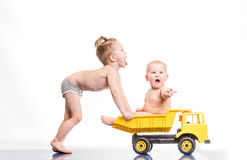 Dzieciaki bawić się zdjęcie royalty free