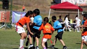 Dzieciaki Bawić się rugby zdjęcie wideo