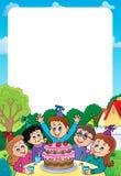 Dzieciaki bawją się temat ramę 2 Fotografia Stock