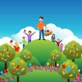 Dzieciaki Dzieli cukierek royalty ilustracja
