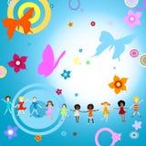 dzieciaki grają ilustracji