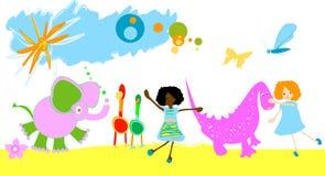 dzieciaki grają Zdjęcie Stock