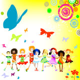 dzieciaki grają Zdjęcia Royalty Free