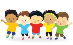 Dzieciaki grupują wpólnie ilustracja wektor