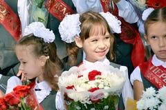 Dzieciaki iść pierwszy czas szkoła Obrazy Royalty Free