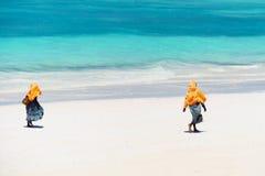 Dzieciaki iść szkoła w Zanzibar Obraz Royalty Free