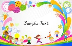 Dzieciaki i rama ilustracji