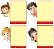 Dzieciaki i znaki Obraz Royalty Free