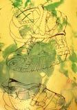 Dzieciaki kują ilustrację Fotografia Royalty Free