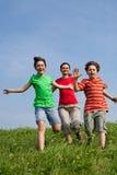 dzieciaki matkują bieg Obraz Royalty Free