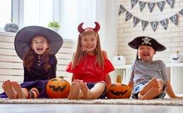 Dzieciaki Przy Halloween Obrazy Stock