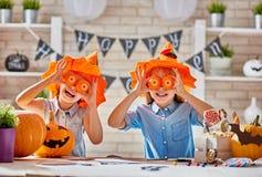 Dzieciaki Przy Halloween Obraz Royalty Free