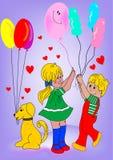 dzieciaki psów ilustracji