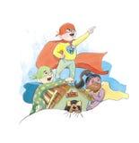 Dzieciaki są bohaterami Obrazy Stock