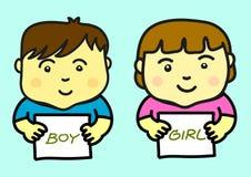 Dzieciaki Trzyma Pustego papier Zdjęcie Royalty Free