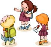 Dzieciaki uczą kogoś set Fotografia Stock