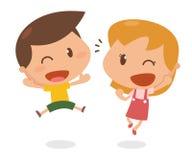 Dzieciaki w akci Szczęśliwy Obraz Stock