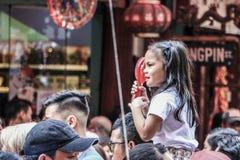 Dzieciaki w Binondo, Manila odświętności chińczyka nowy rok zdjęcie royalty free
