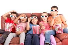 Dzieciaki w filmach Obraz Stock
