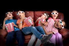 Dzieciaki w filmach Zdjęcia Stock