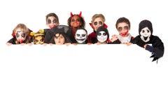 Dzieciaki w Halloween Zdjęcia Royalty Free