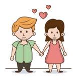 Dzieciaki w miłości kreskówce ilustracji