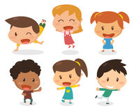 Dzieciaki w różnych akcjach Obrazy Stock