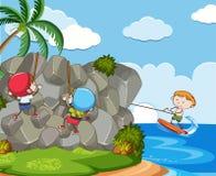 Dzieciaki z lata ekstremum aktywność ilustracji