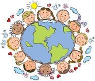 Dzieciaki ziemia Zdjęcie Royalty Free