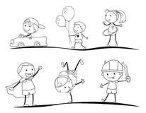 Dzieciaków nakreślenia Obraz Stock