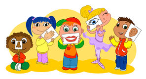 dzieciaków pięć sensów Obrazy Stock