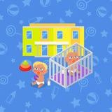 Dziecina budynek Chłopiec i dziewczyna Fotografia Stock