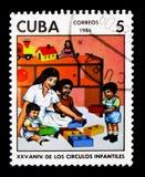 Dziecinowie, 25th rocznicowy seria około 1986, fotografia stock