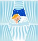 dziecka ładni poduszki sen royalty ilustracja