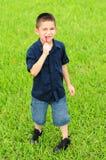 dziecka łasowania jedzenia dżonka Fotografia Royalty Free