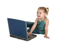 dziecka ścinku laptopu stara ścieżka obraz royalty free