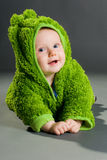dziecka żaby strój Zdjęcia Royalty Free
