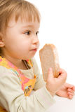 dziecka łasowanie Obraz Royalty Free