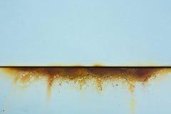 Dziecka błękita metal z ośniedziałym cięciem Zdjęcia Stock