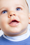 dziecka błękitny chłopiec śliczni oczy szczęśliwi Zdjęcie Royalty Free