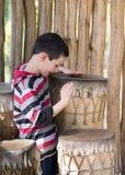 Dziecka bębnienie Zdjęcia Royalty Free